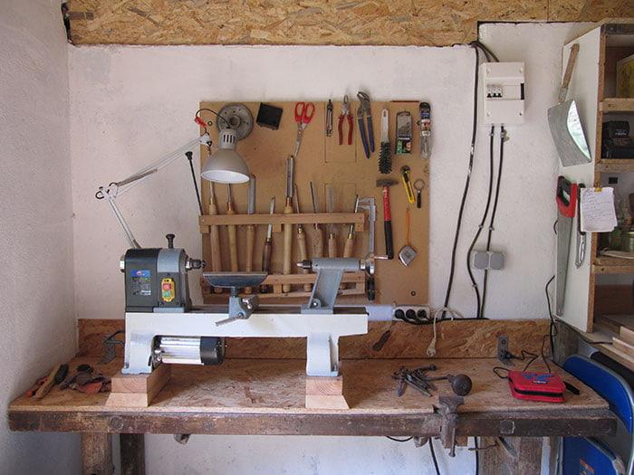 Atelier pour l'initiation au tournage sur bois